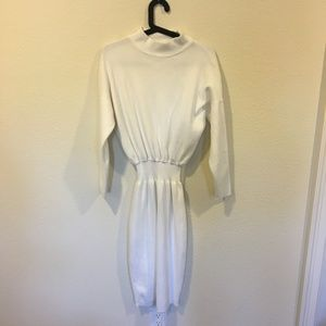 Goodnight Macaroon white cinched sweater dress